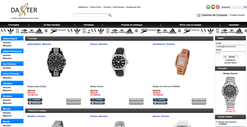 a80092f0d Novo Cliente: Daster - Focada no segmento de relógios, a Daster ...