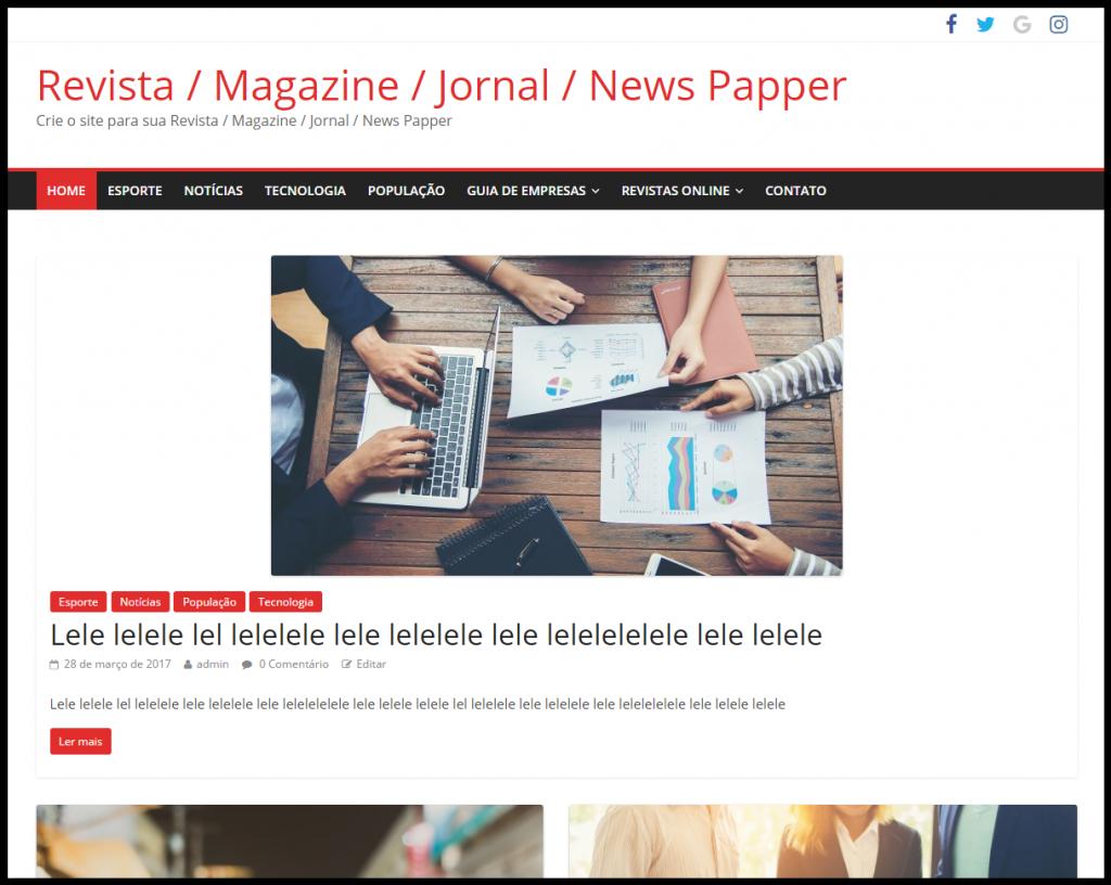 f0dddfe6c Instalado novo modelo de site para Revista - Jornal - Guia Comercial ...
